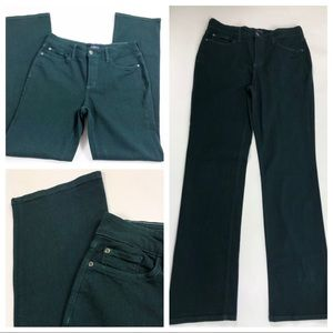 NYDJ SZ 8 Green Marilyn Straight Jeans